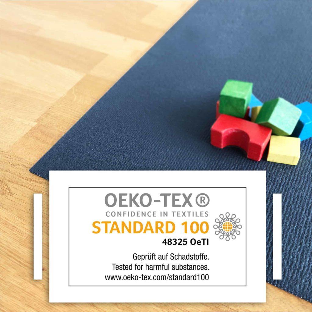 Detailbild mit OEKO-TEX Krabbelmatte