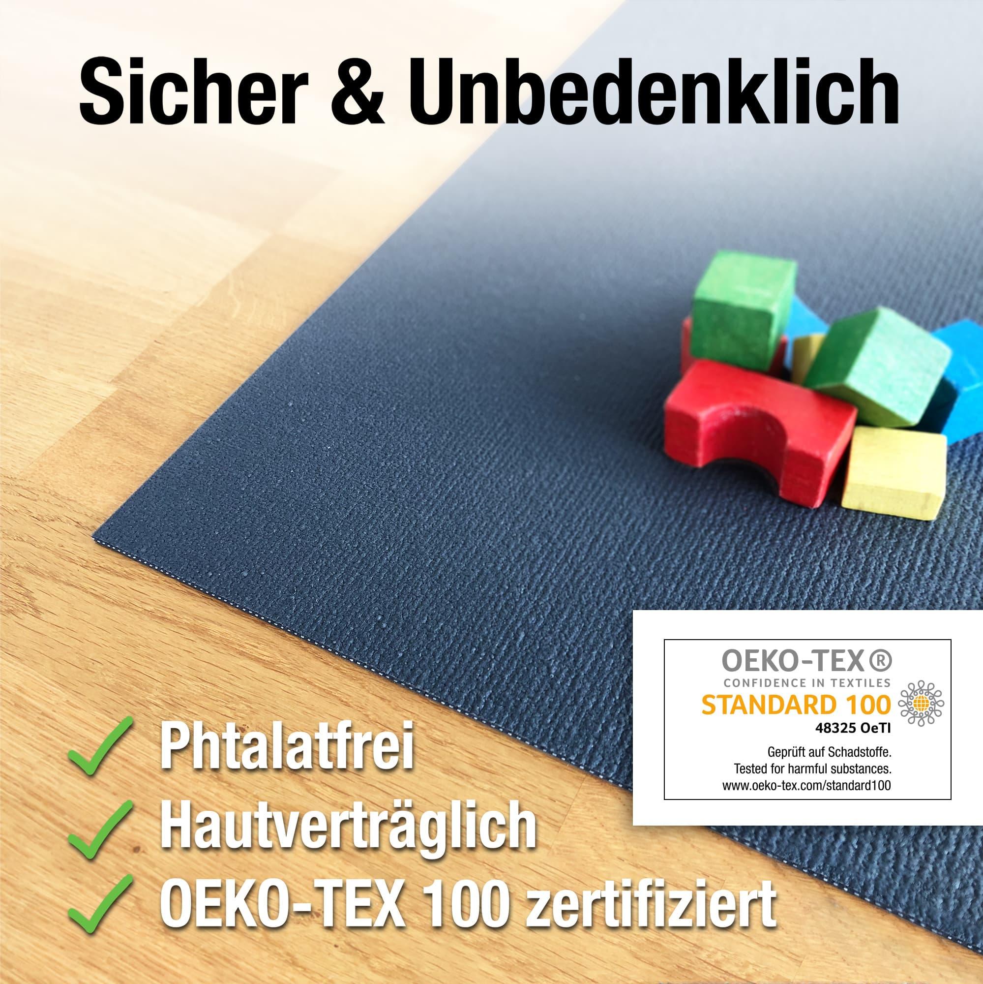 Ehrenkind/® Made in Germany Anti-Rutsch Krabbelmatte Oeko-Tex Matten Gr/ö/ße 80x80cm ORANGE
