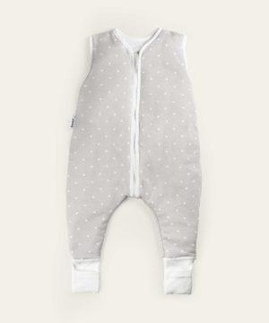 Ehrenkind® Babyschlafsack mit Beinen aus Bio-Baumwolle – Grau weiße Punkte